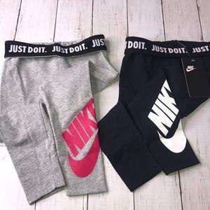 2 NEW Nike leggings size 4/5